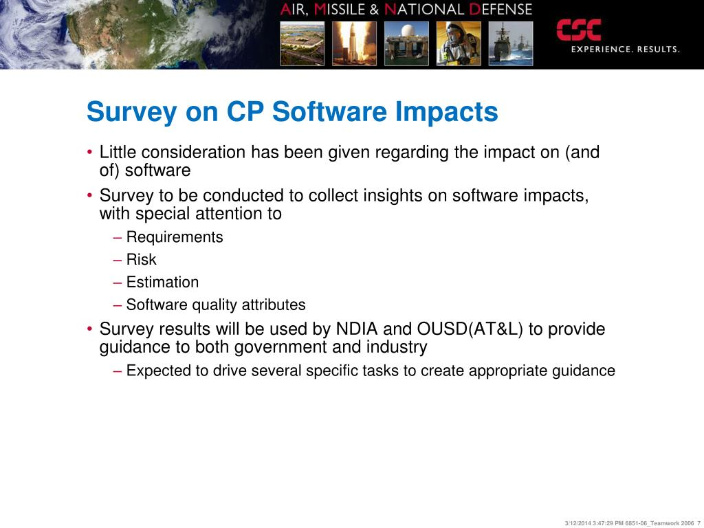Survey on CP Software Impacts
