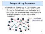 design group formation