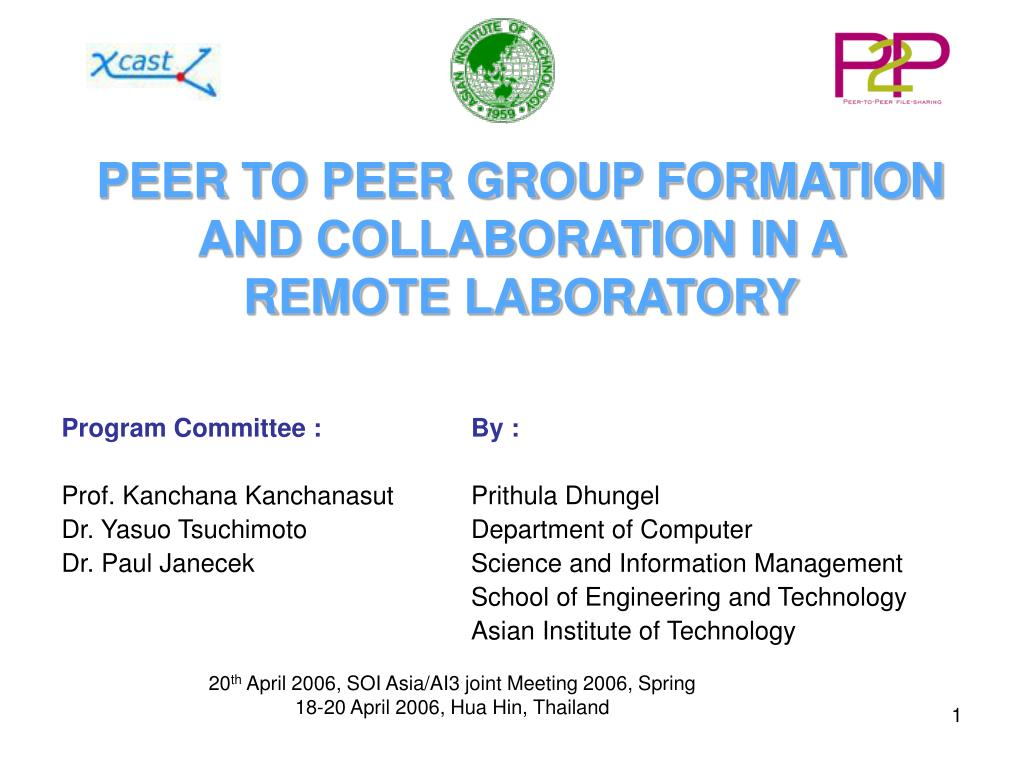 peer to peer group formation and collaboration in a remote laboratory l.