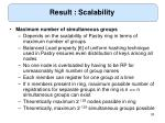 result scalability35