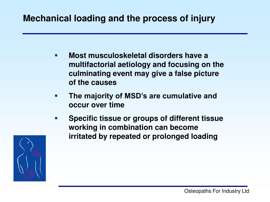 Mechanical loading and the process of injury