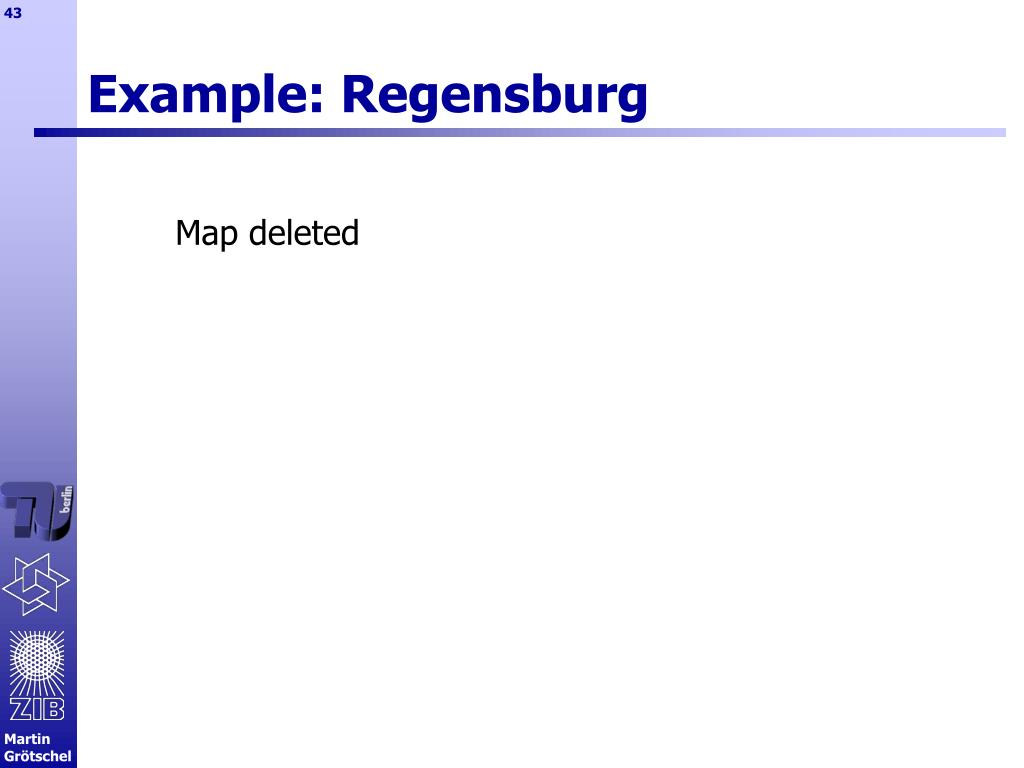 Example: Regensburg