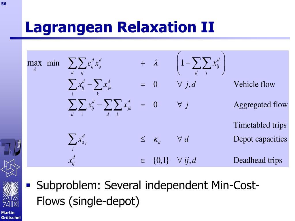 Lagrangean Relaxation II