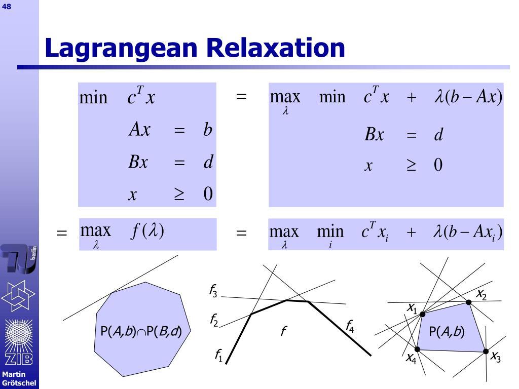 Lagrangean Relaxation