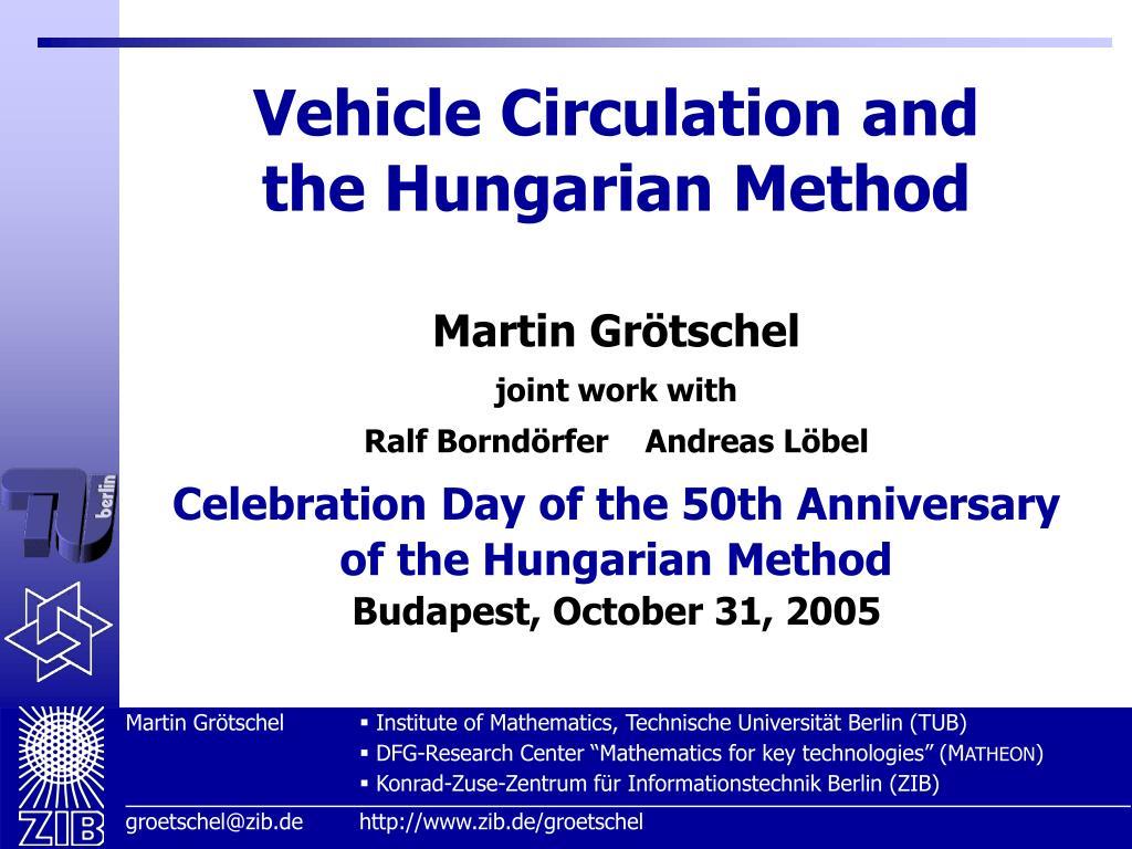 Vehicle Circulation and
