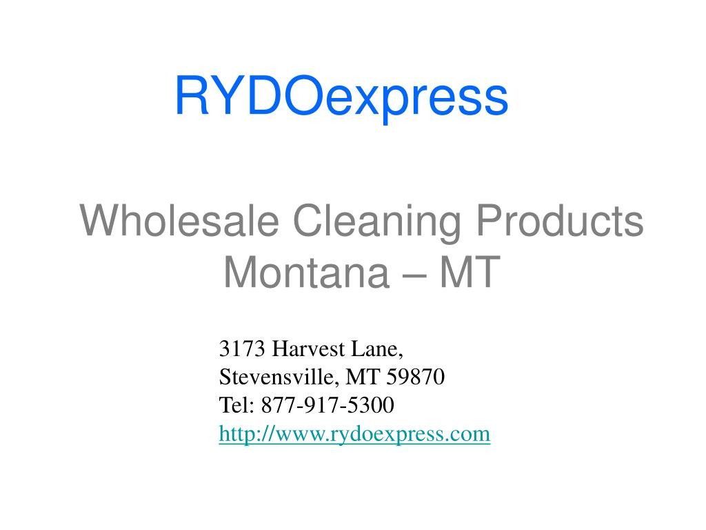 wholesale cleaning products montana mt l.