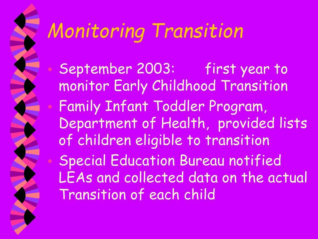 Monitoring Transition