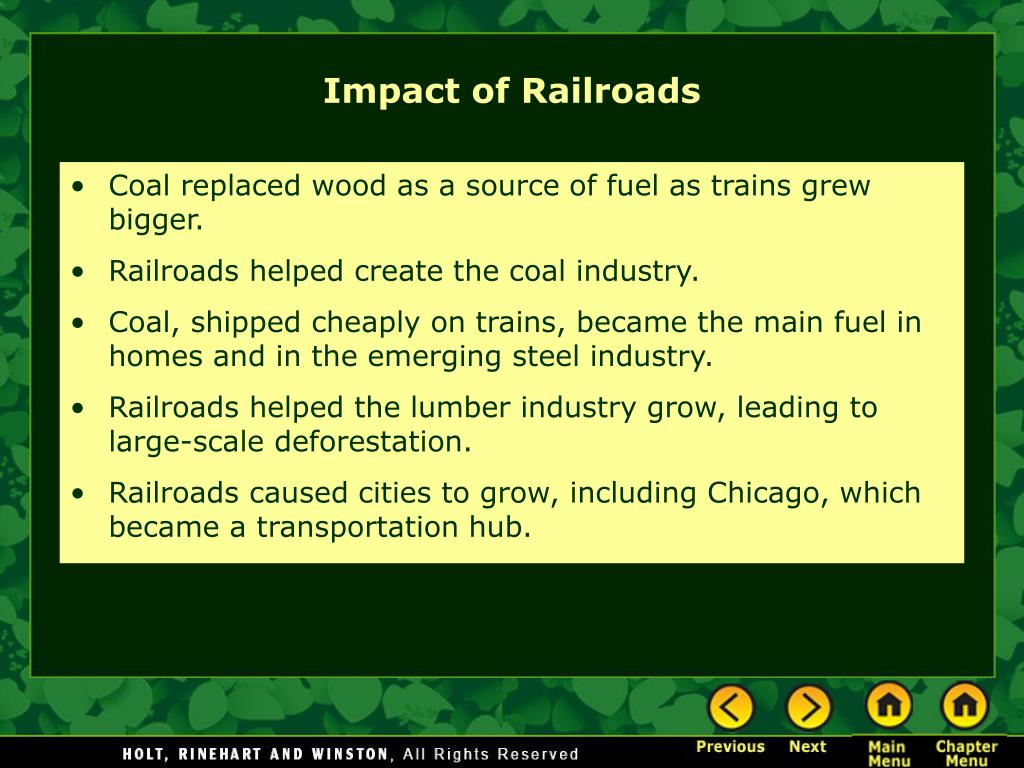Coal replaced wood as a source of fuel as trains grew bigger.