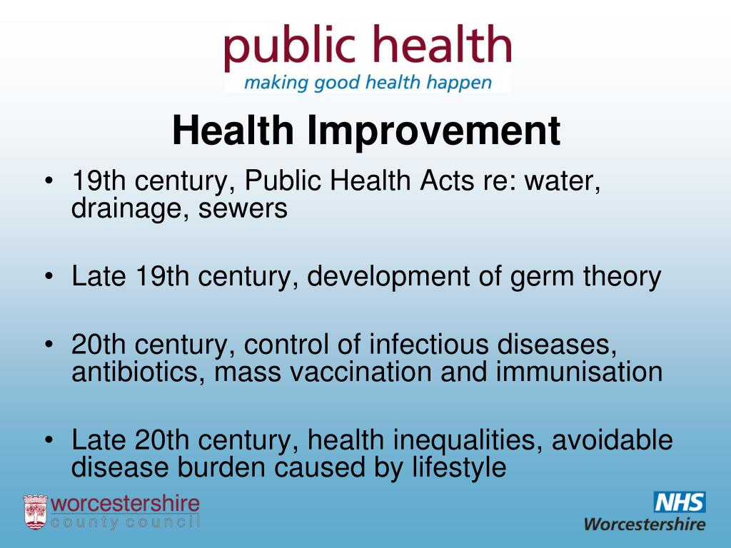19th century, Public Health Acts re: water, drainage, sewers