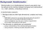background bioinformatics