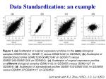 data standardization an example