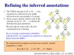 refining the inferred annotations