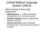 unified medical language system umls