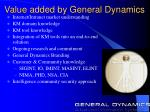 value added by general dynamics