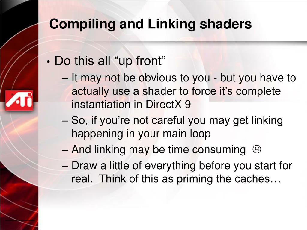 Compiling and Linking shaders