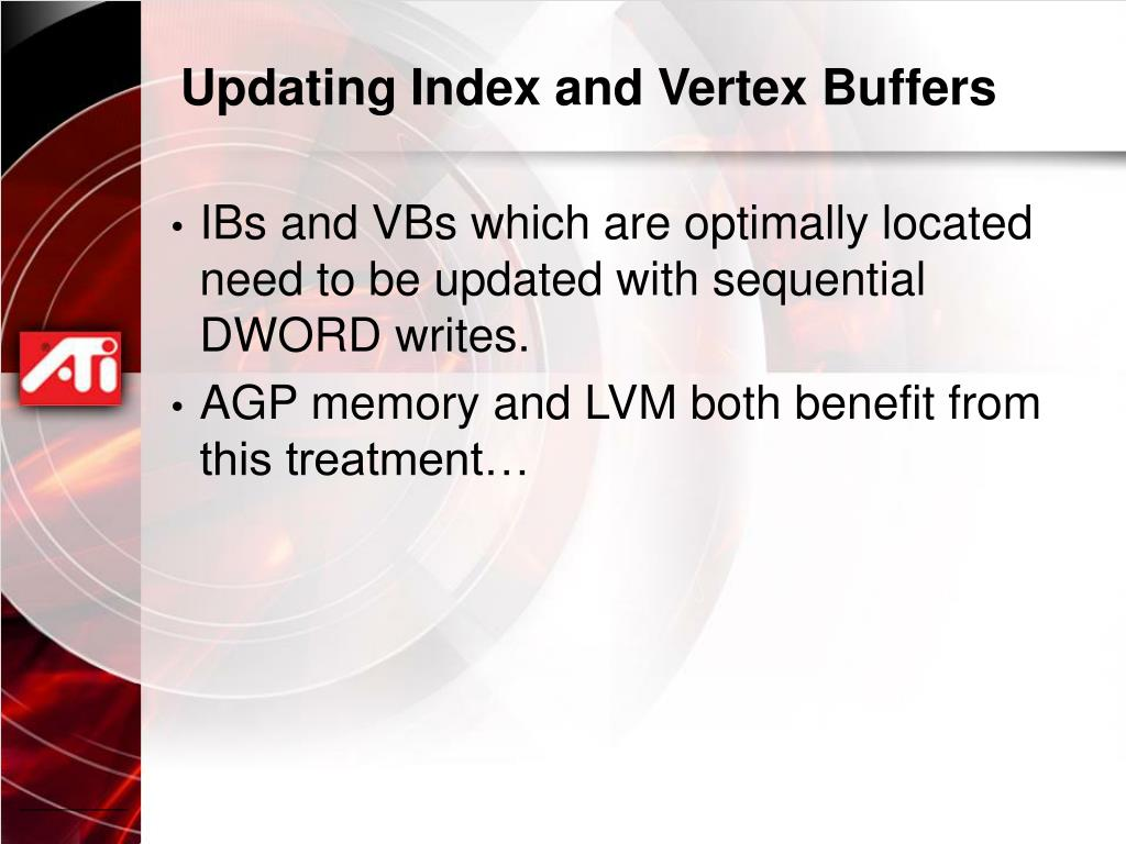 Updating Index and Vertex Buffers
