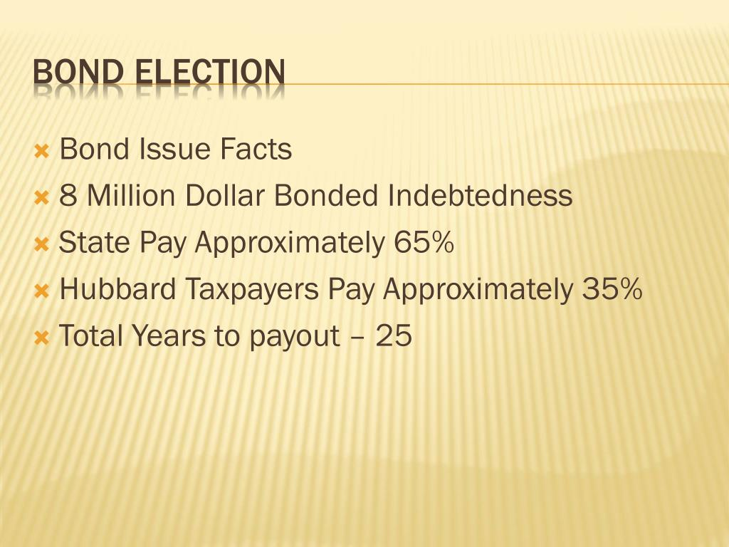 Bond Issue Facts
