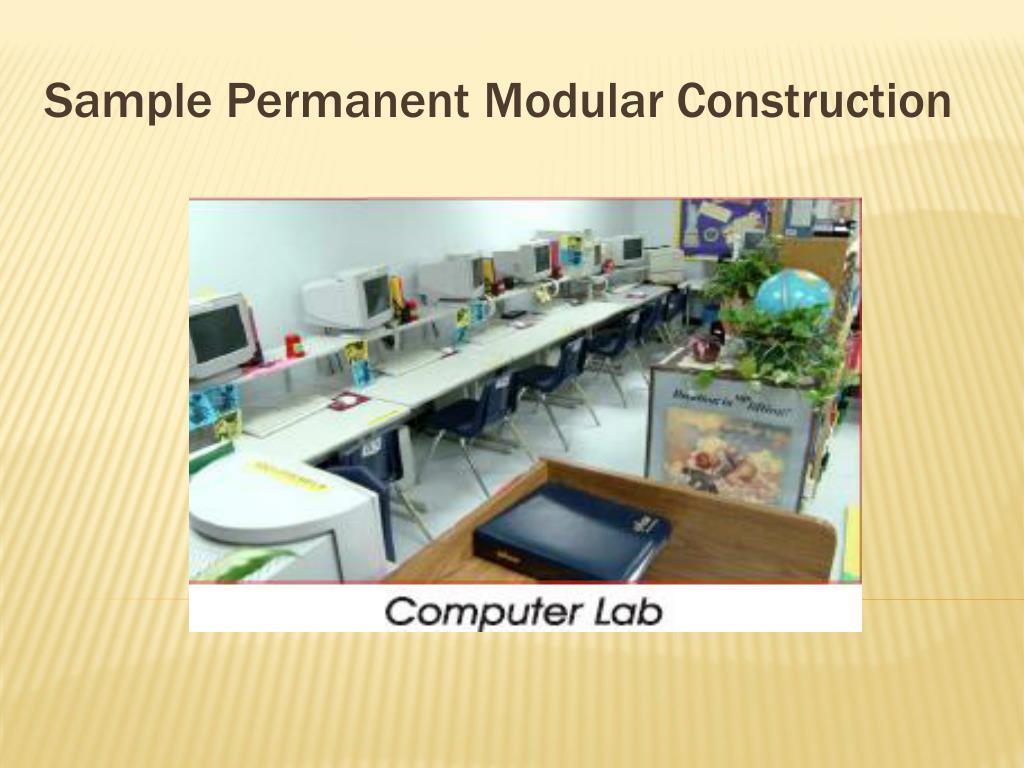 Sample Permanent Modular Construction