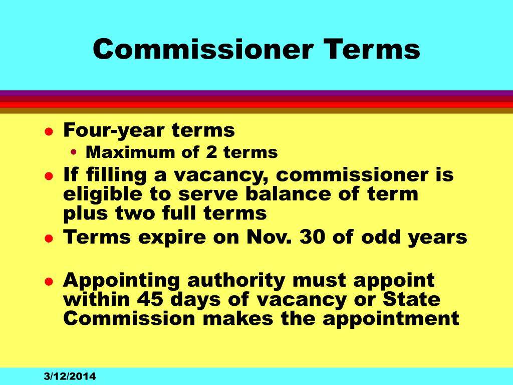 Commissioner Terms