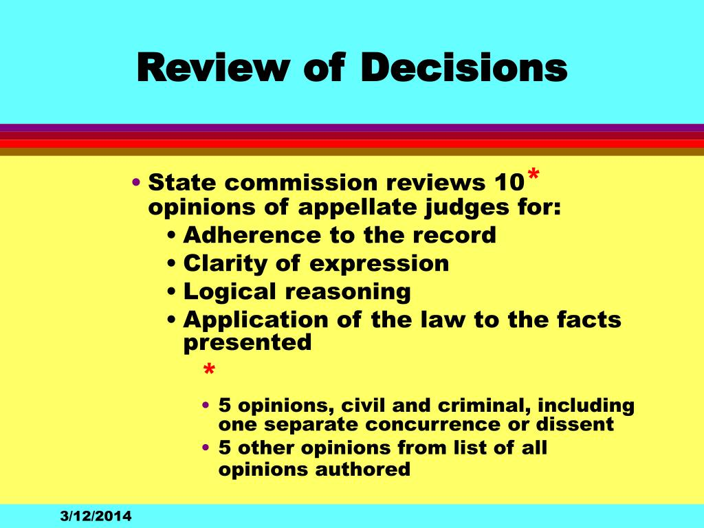 Review of Decisions