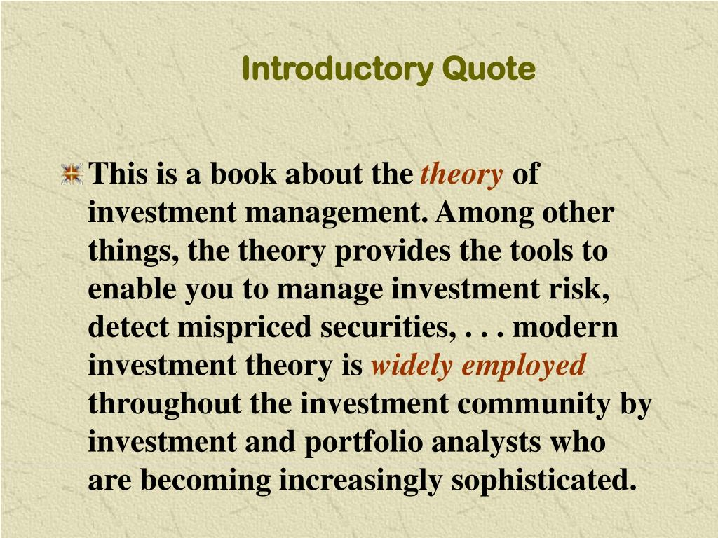 Introductory Quote
