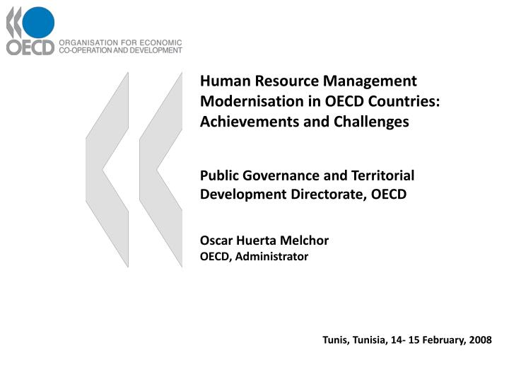 Human Resource Management Modernisation in OECD Countries: