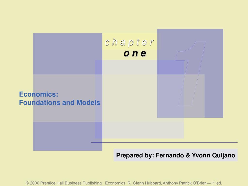 economics foundations and models l.