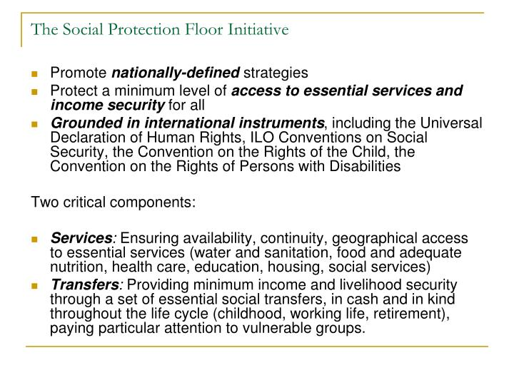 The social protection floor initiative1