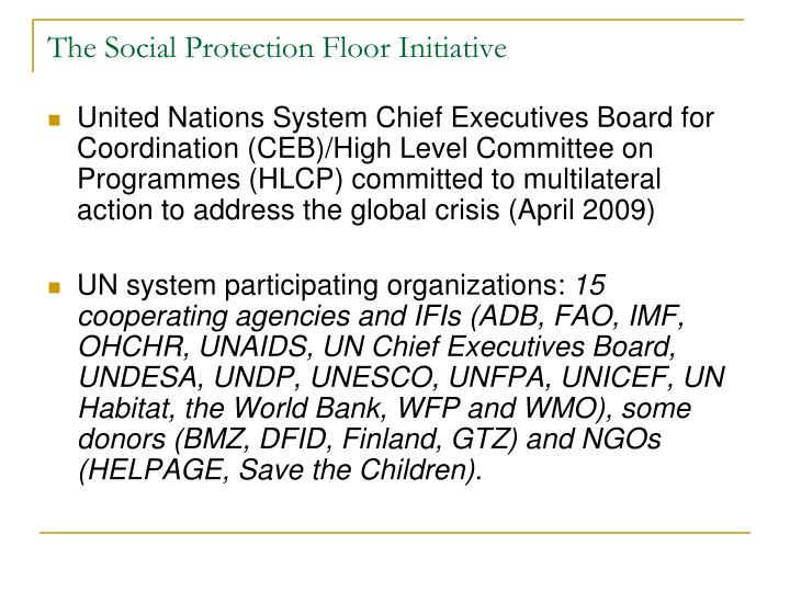 The social protection floor initiative2
