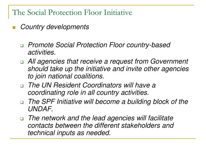 The Social Protection Floor Initiative