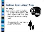 getting your library card
