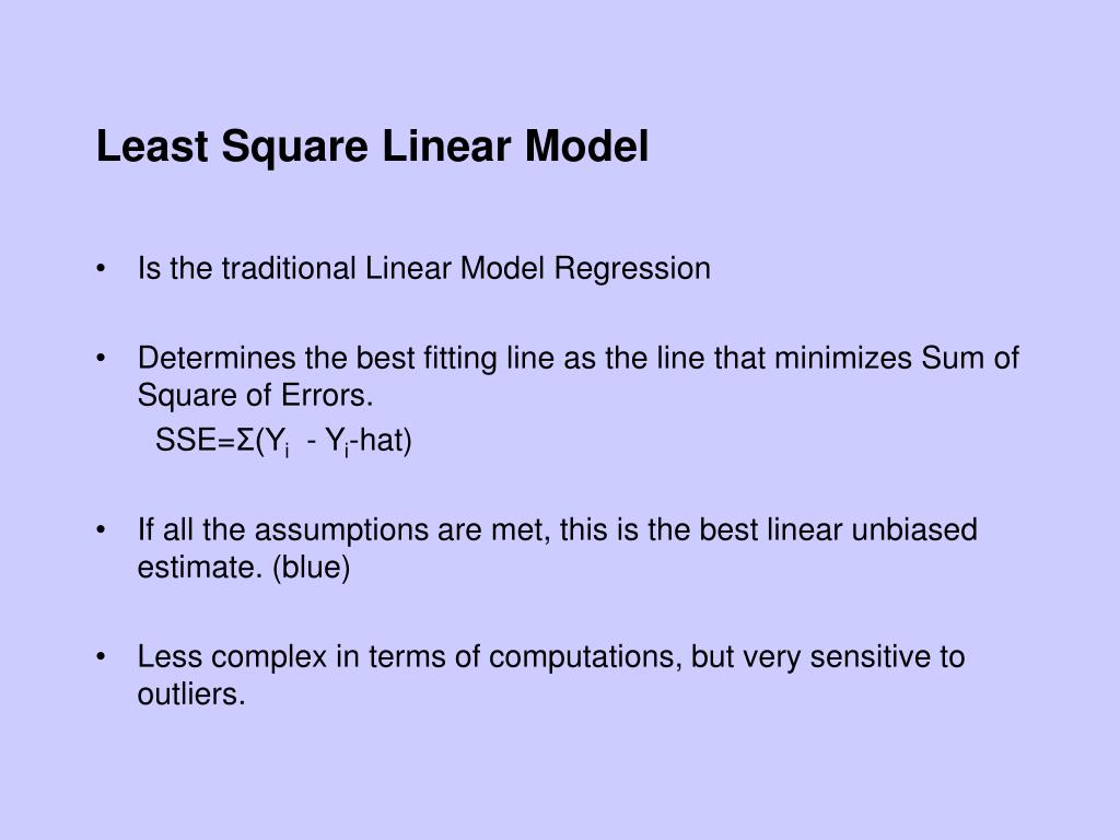 Least Square Linear Model