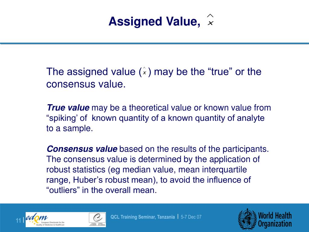 Assigned Value,