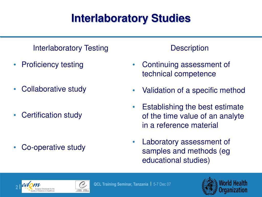 Interlaboratory Studies