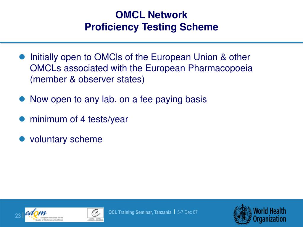 OMCL Network