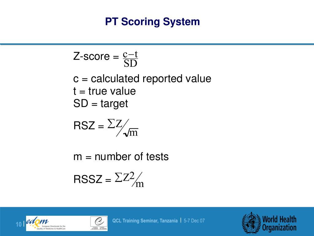 PT Scoring System