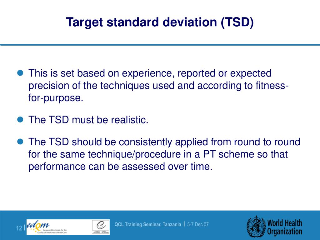 Target standard deviation (TSD)
