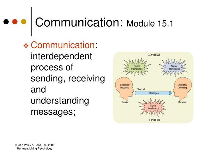 Communication module 15 1