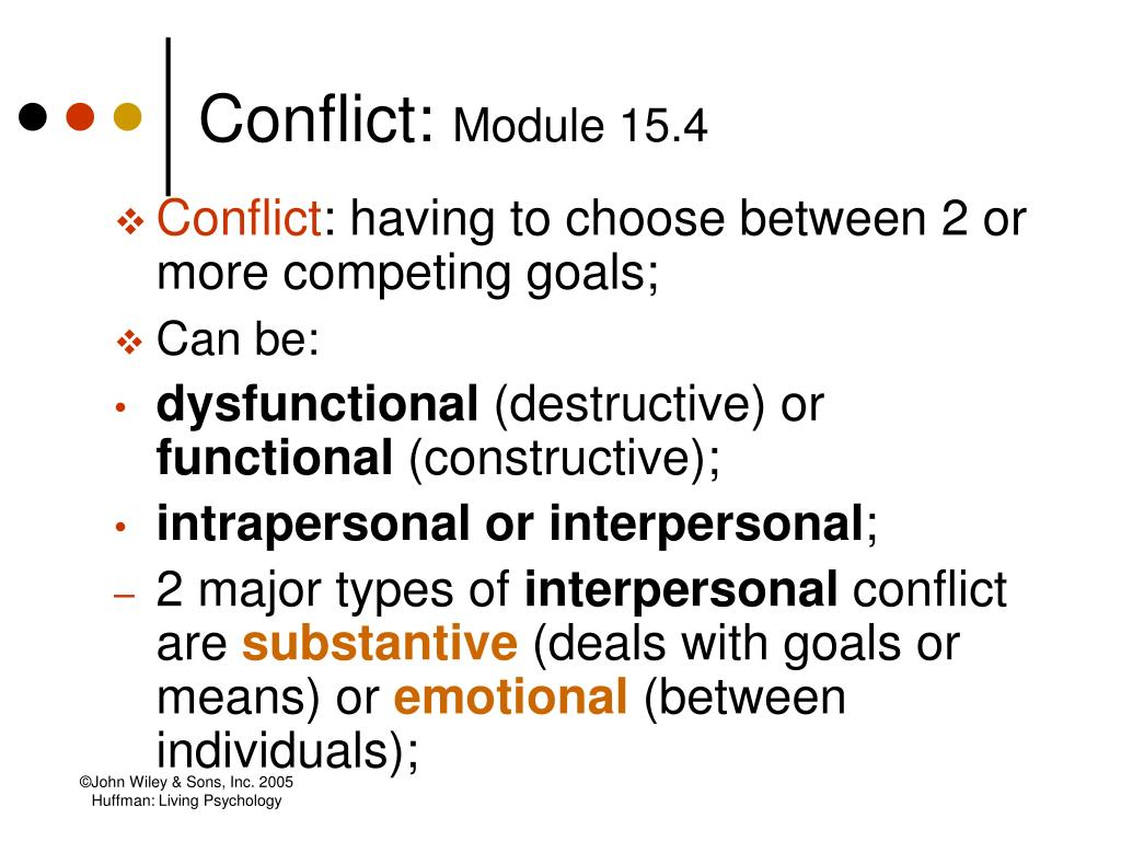 Conflict: