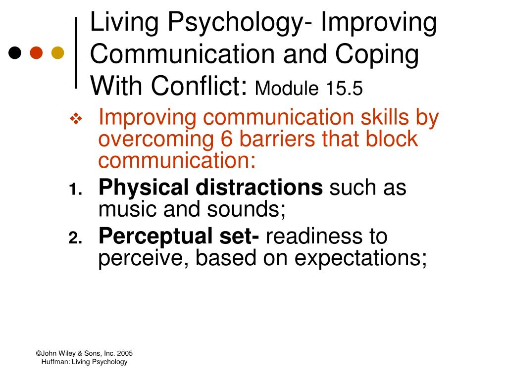 Living Psychology- Improving Communication and Coping With Conflict: