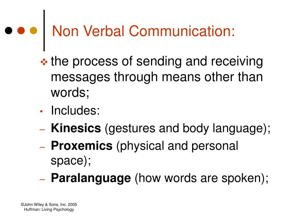 Non Verbal Communication: