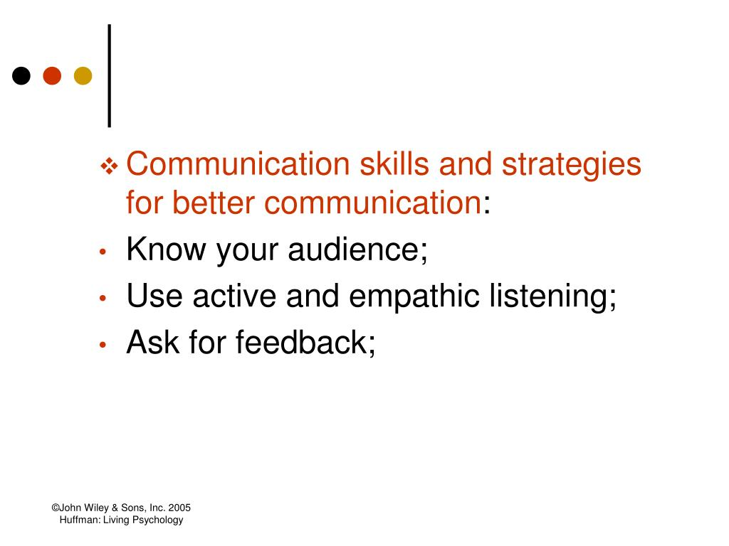 Communication skills and strategies for better communication