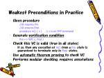 weakest preconditions in practice
