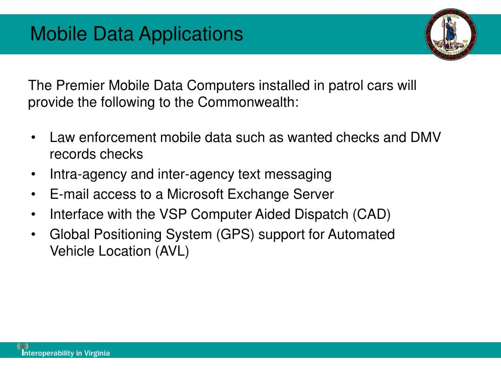 Mobile Data Applications