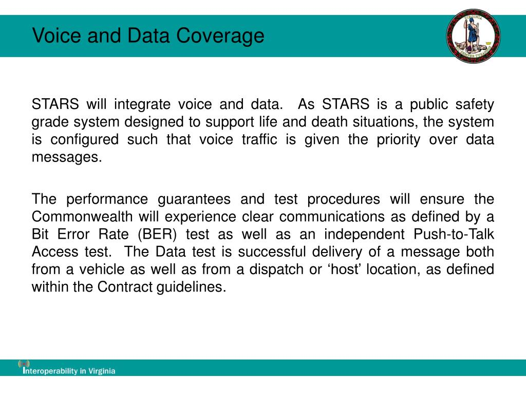 Voice and Data Coverage