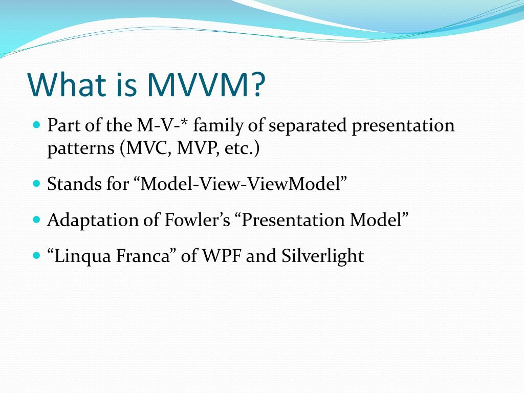 What is MVVM?