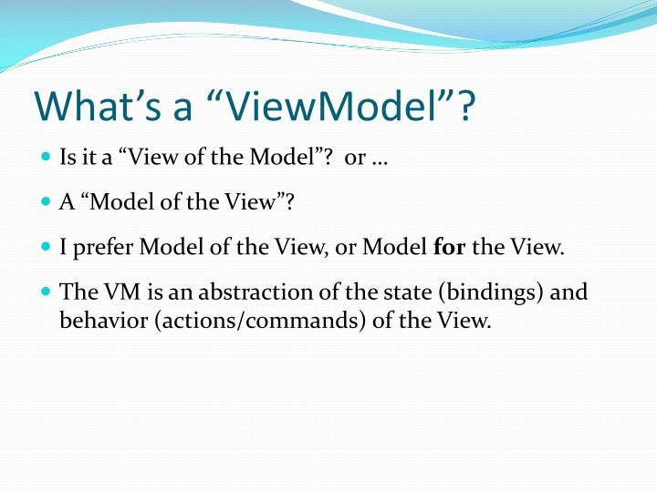 What s a viewmodel