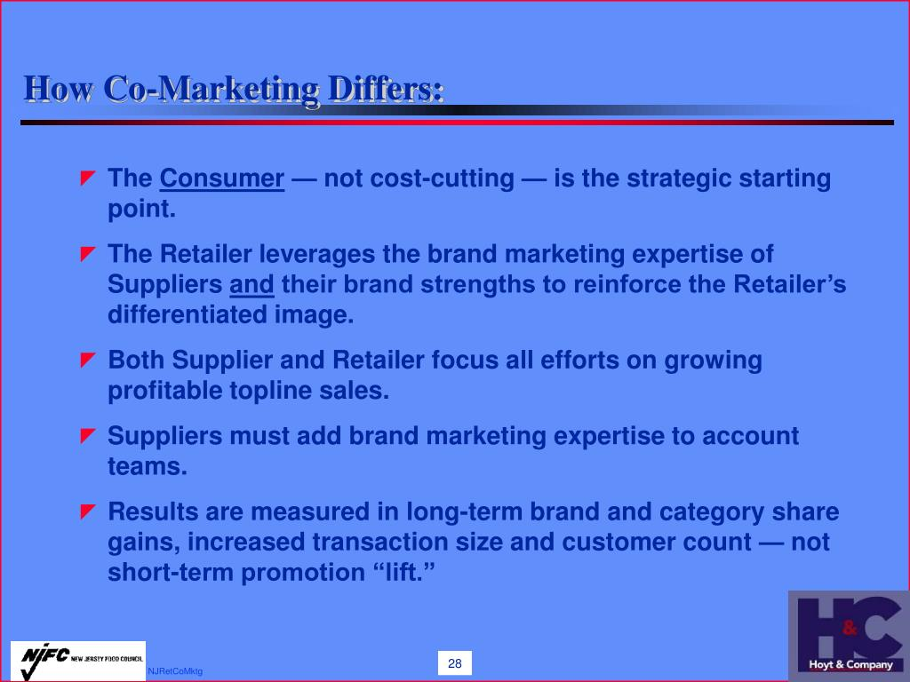 How Co-Marketing Differs: