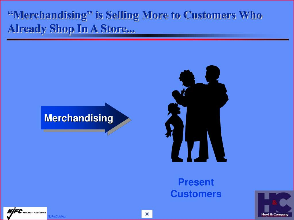 """""""Merchandising"""" is Selling More to Customers Who Already Shop In A Store..."""