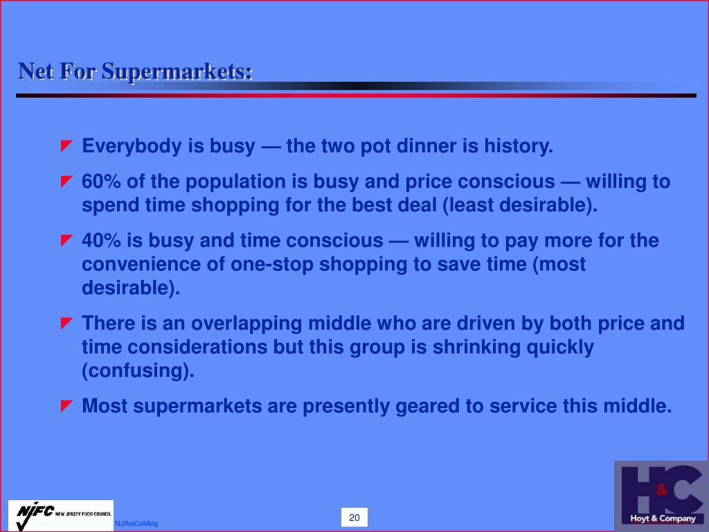 Net For Supermarkets: